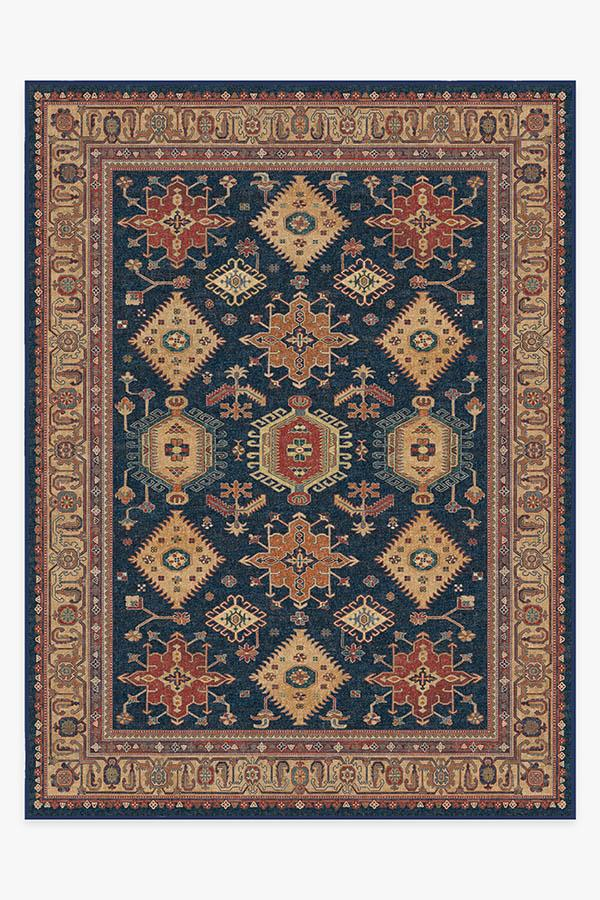 Washable Rug Cover & Pad | Cambria Sapphire Rug | Stain-Resistant | Ruggable | 9'x12'