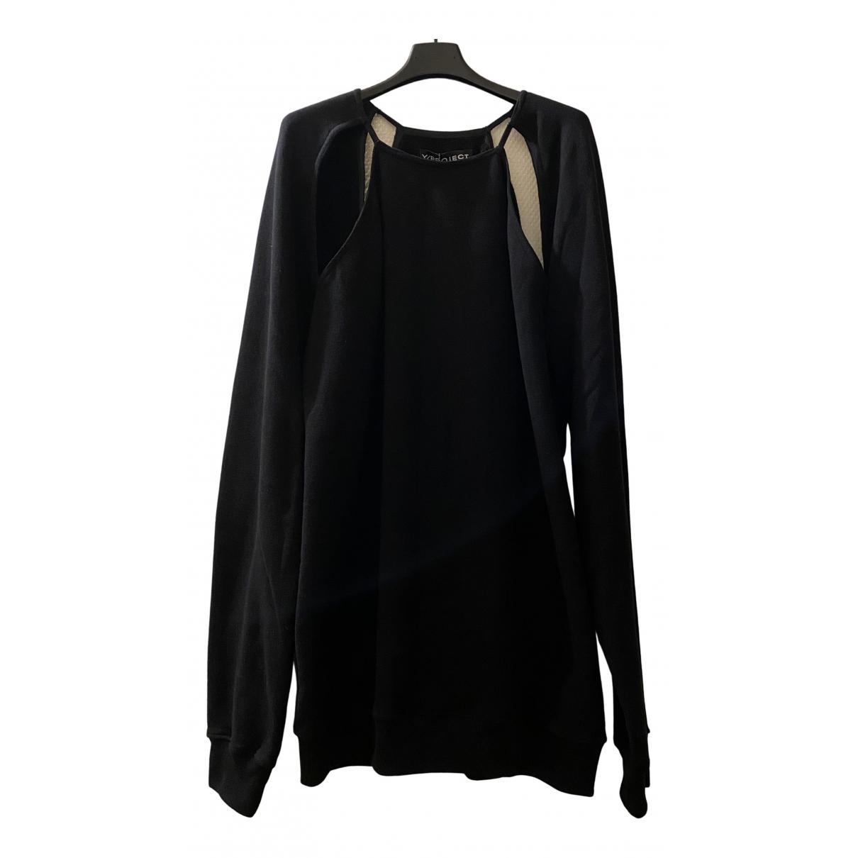 Y/project - Top   pour femme en coton - noir