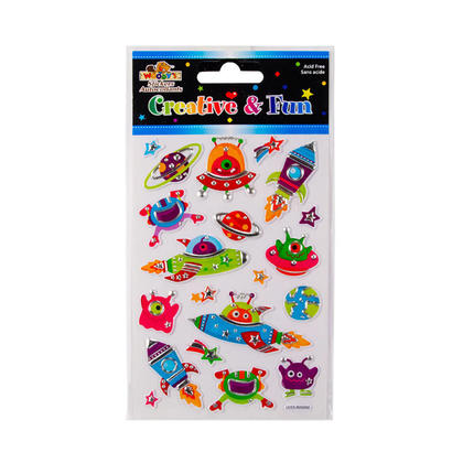 Spaceship Self-Adhesive Embossed/Foil Stickers for Arts & Crafts, 4