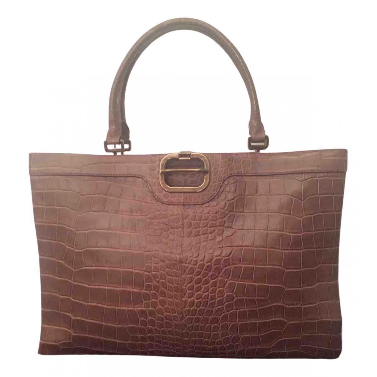 Roger Vivier N Camel Crocodile handbag for Women N
