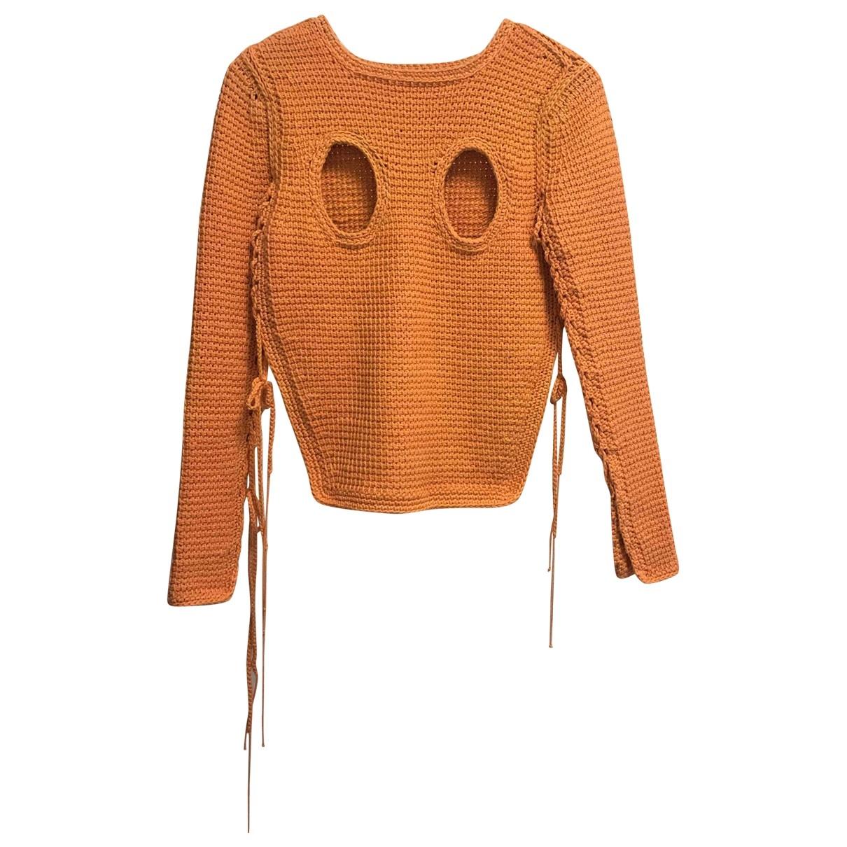 Craig Green - Pull   pour femme en coton - orange