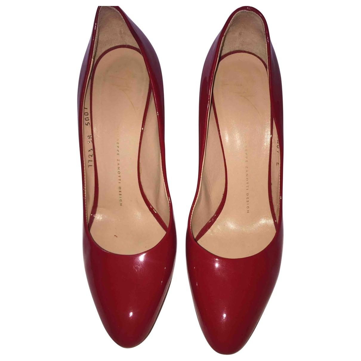 Giuseppe Zanotti \N Red Leather Heels for Women 39 EU
