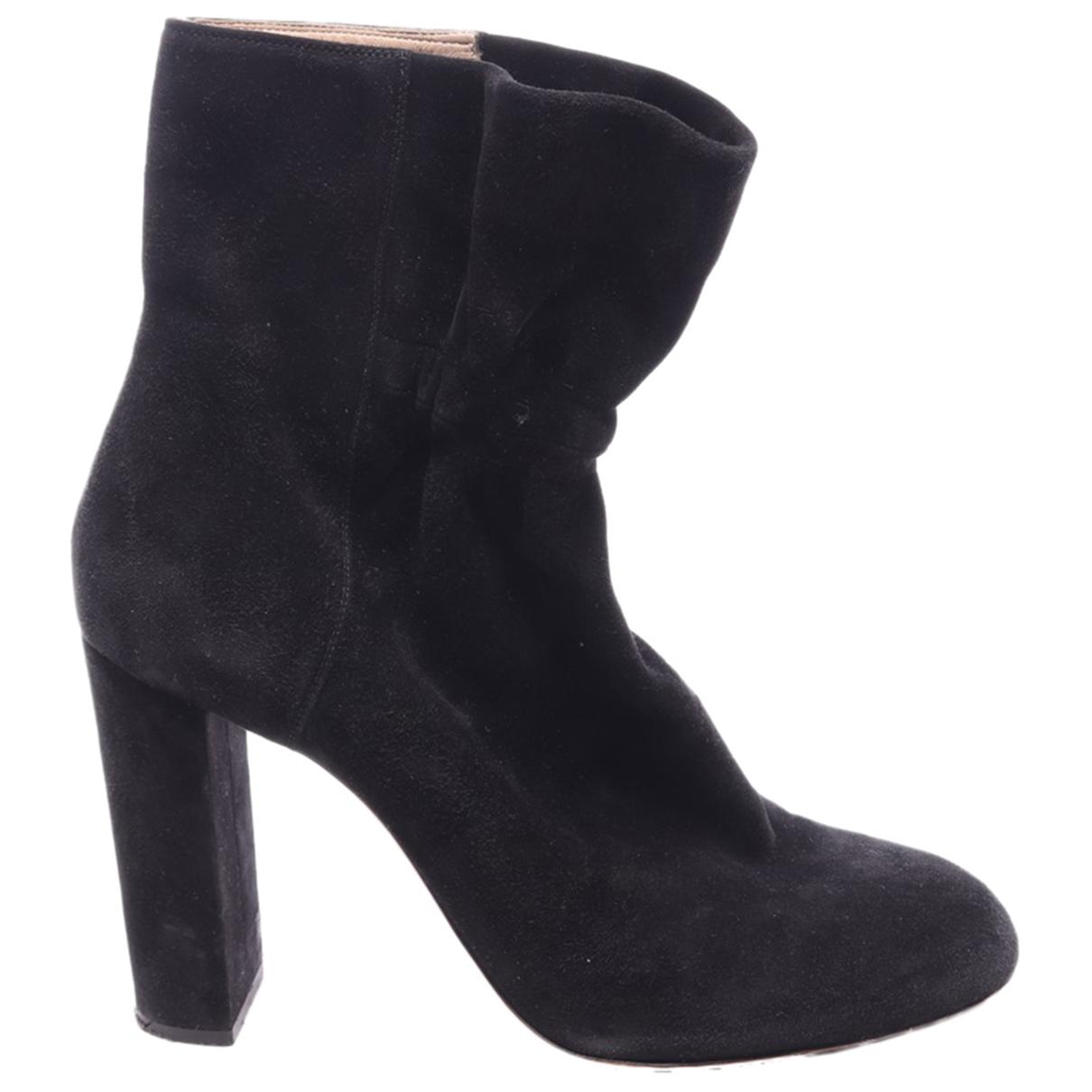 Chloe - Boots   pour femme en cuir - noir