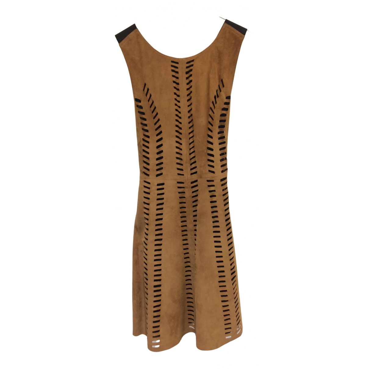 Maje N Camel Suede dress for Women 36 FR