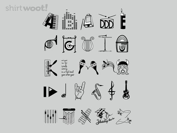 Musician's Alphabet T Shirt