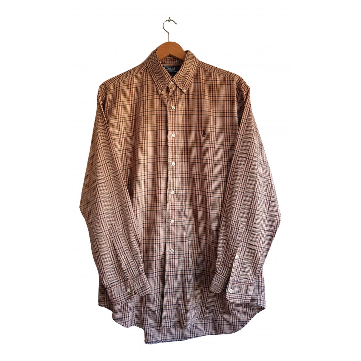 Polo Ralph Lauren \N Brown Cotton Shirts for Men M International
