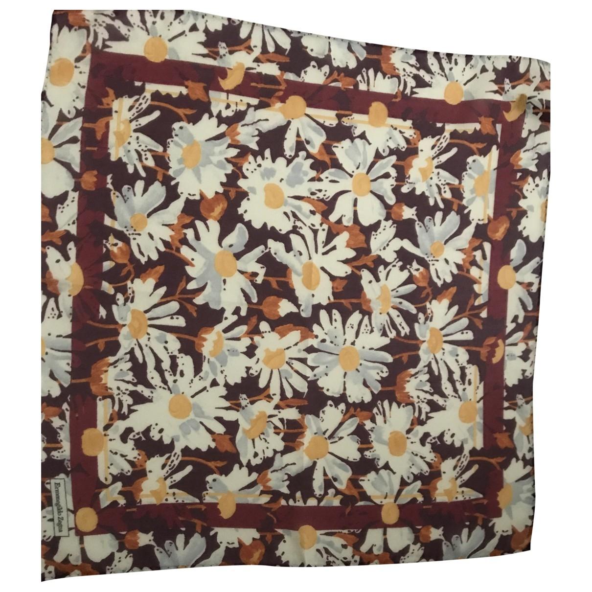 Ermenegildo Zegna \N Ecru Silk scarf & pocket squares for Men \N
