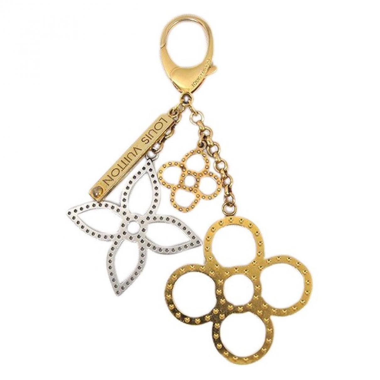 Louis Vuitton \N Taschenschmuck in  Gold Leinen