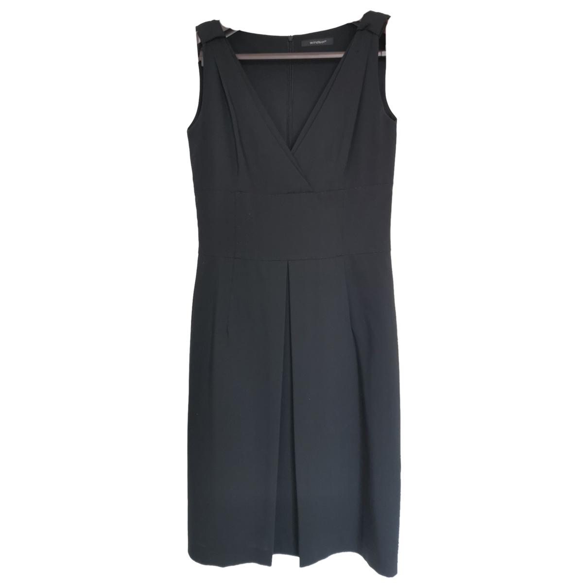 Windsor \N Kleid in  Anthrazit Wolle