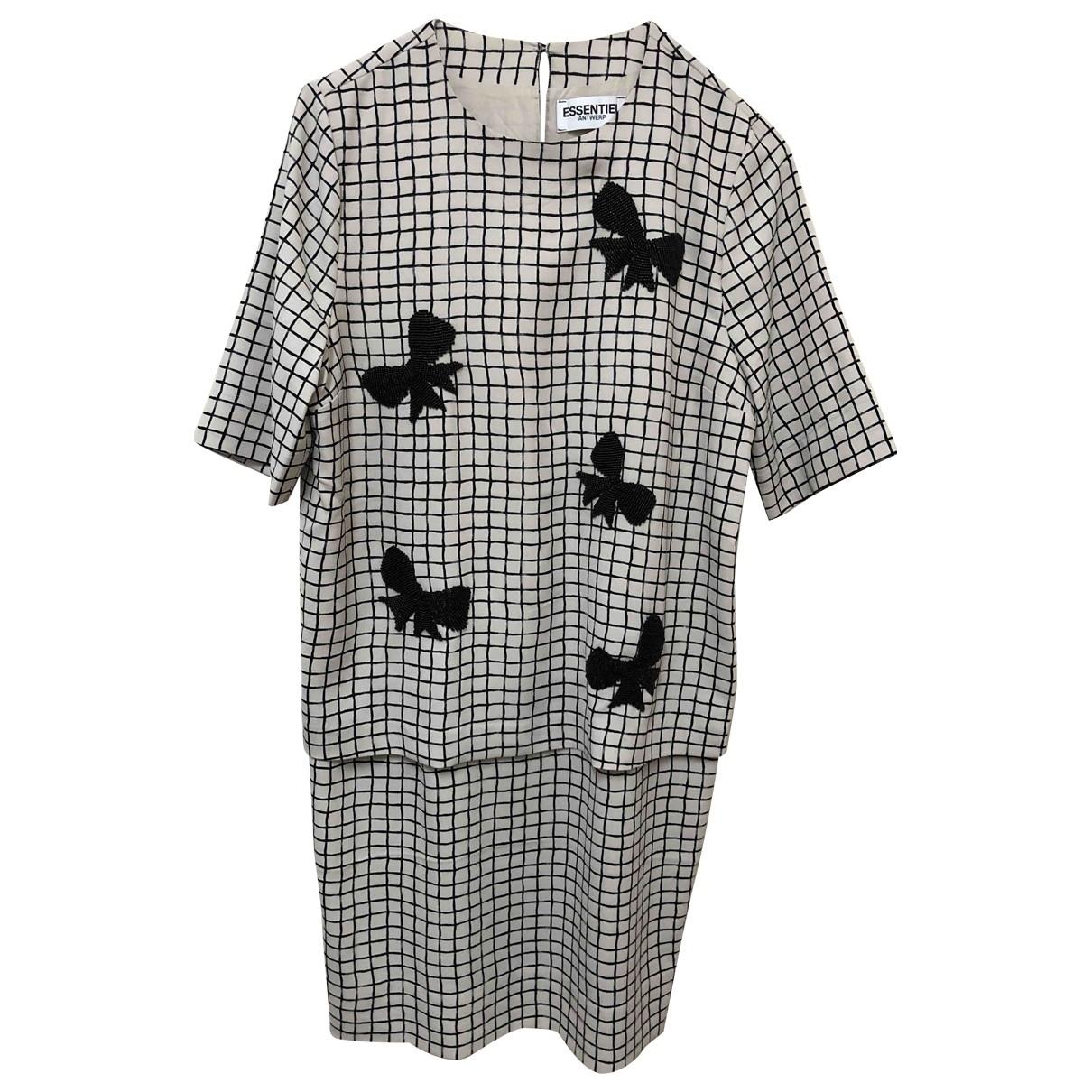 Essentiel Antwerp - Robe   pour femme - ecru