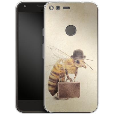 Google Pixel XL Silikon Handyhuelle - Worker Bee von Eric Fan