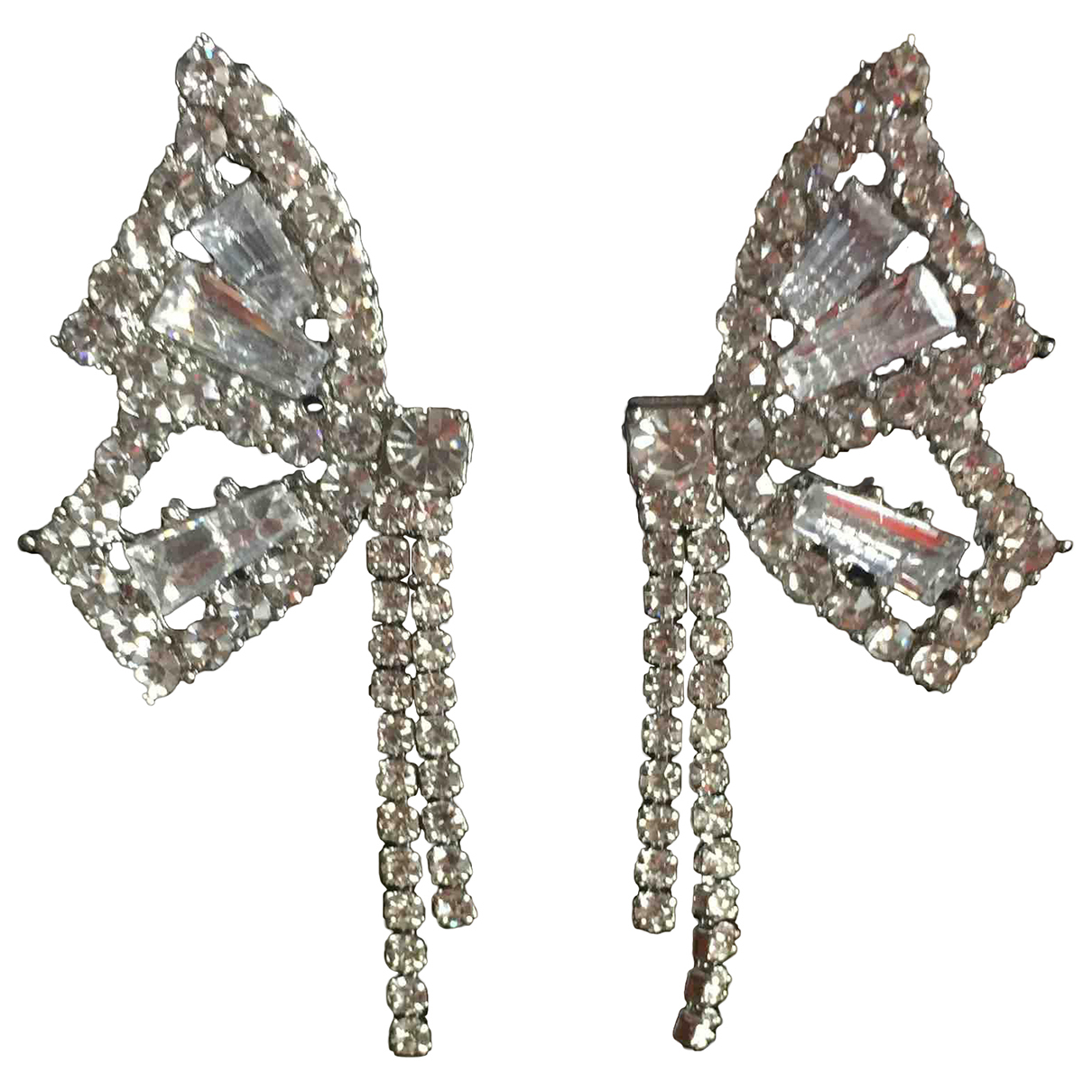 Non Signé / Unsigned Motifs Animaliers Silver Metal Earrings for Women \N