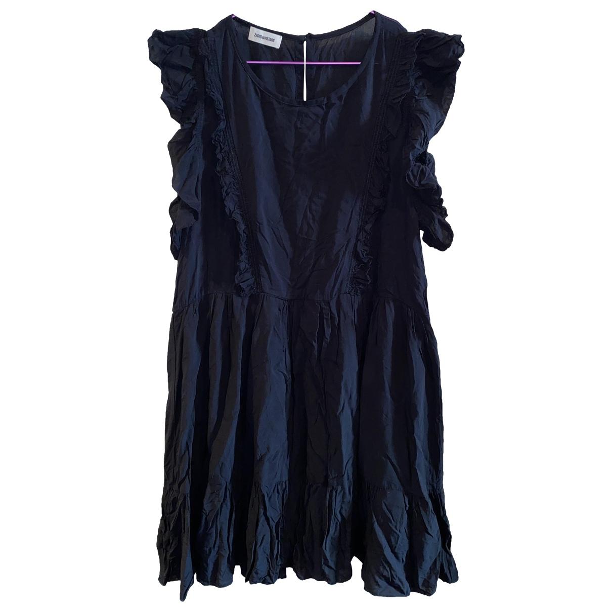 Zadig & Voltaire \N Kleid in  Schwarz Viskose