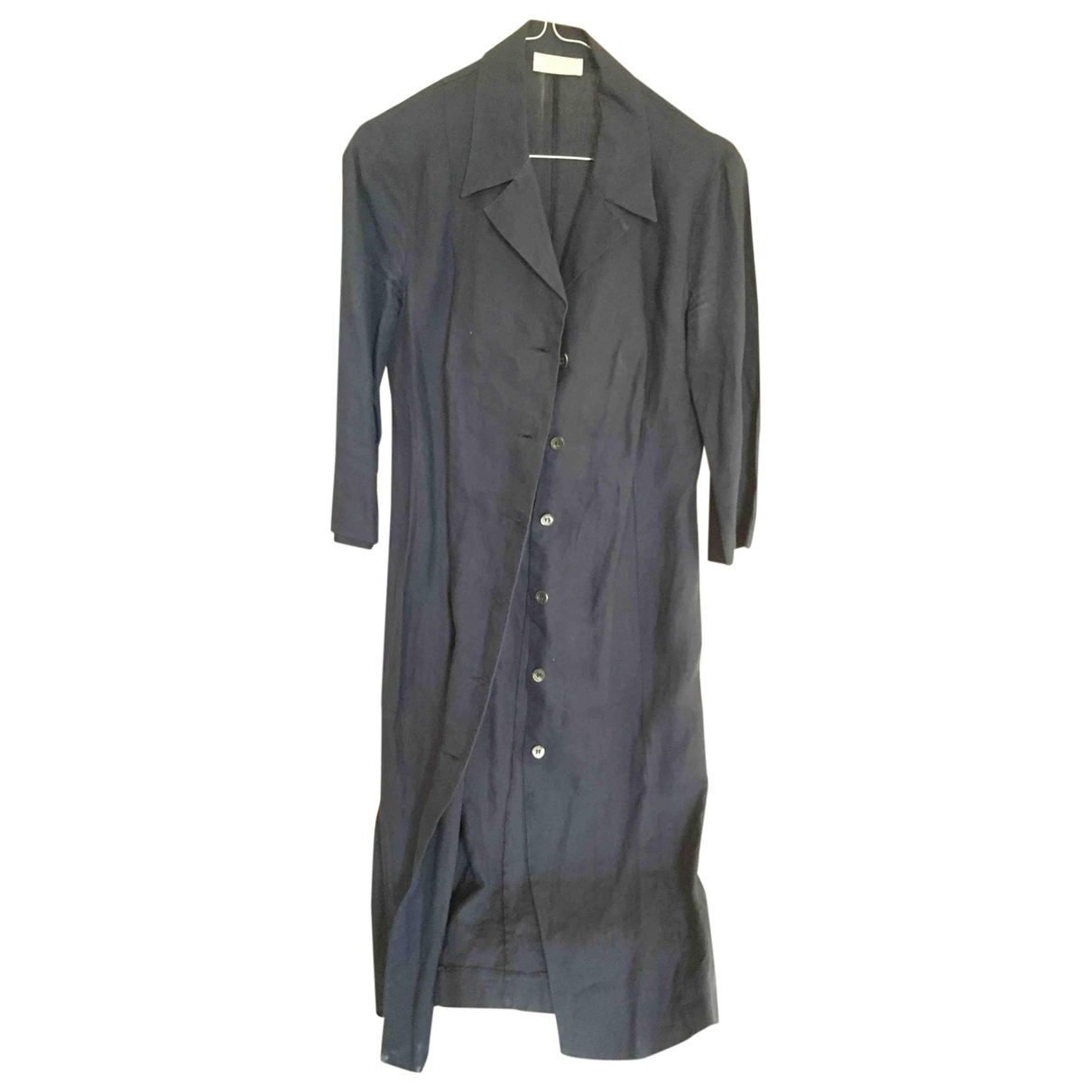 Non Signé / Unsigned \N Blue Linen dress for Women 42 IT