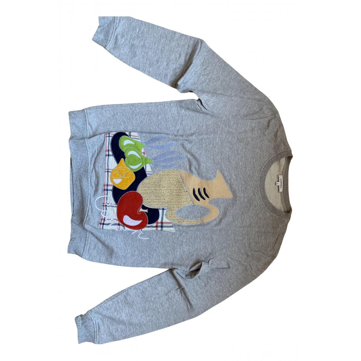 Carven \N Pullover.Westen.Sweatshirts  in  Grau Baumwolle