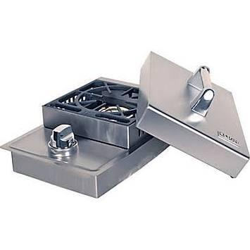 L6247 15000 BTU Stainless Steel Single Side Burner with Removable Cover: Liquid