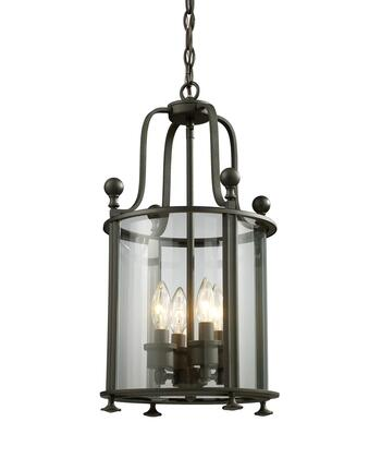 Wyndham 135-4 11.5 4 Light Pendant Period Inspired  Old World  Gothichave Steel Frame with Bronze finish in