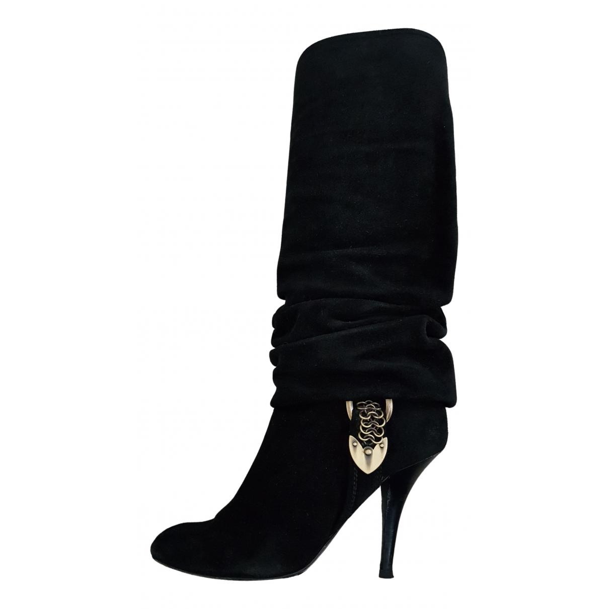 Dior \N Stiefel in  Schwarz Veloursleder