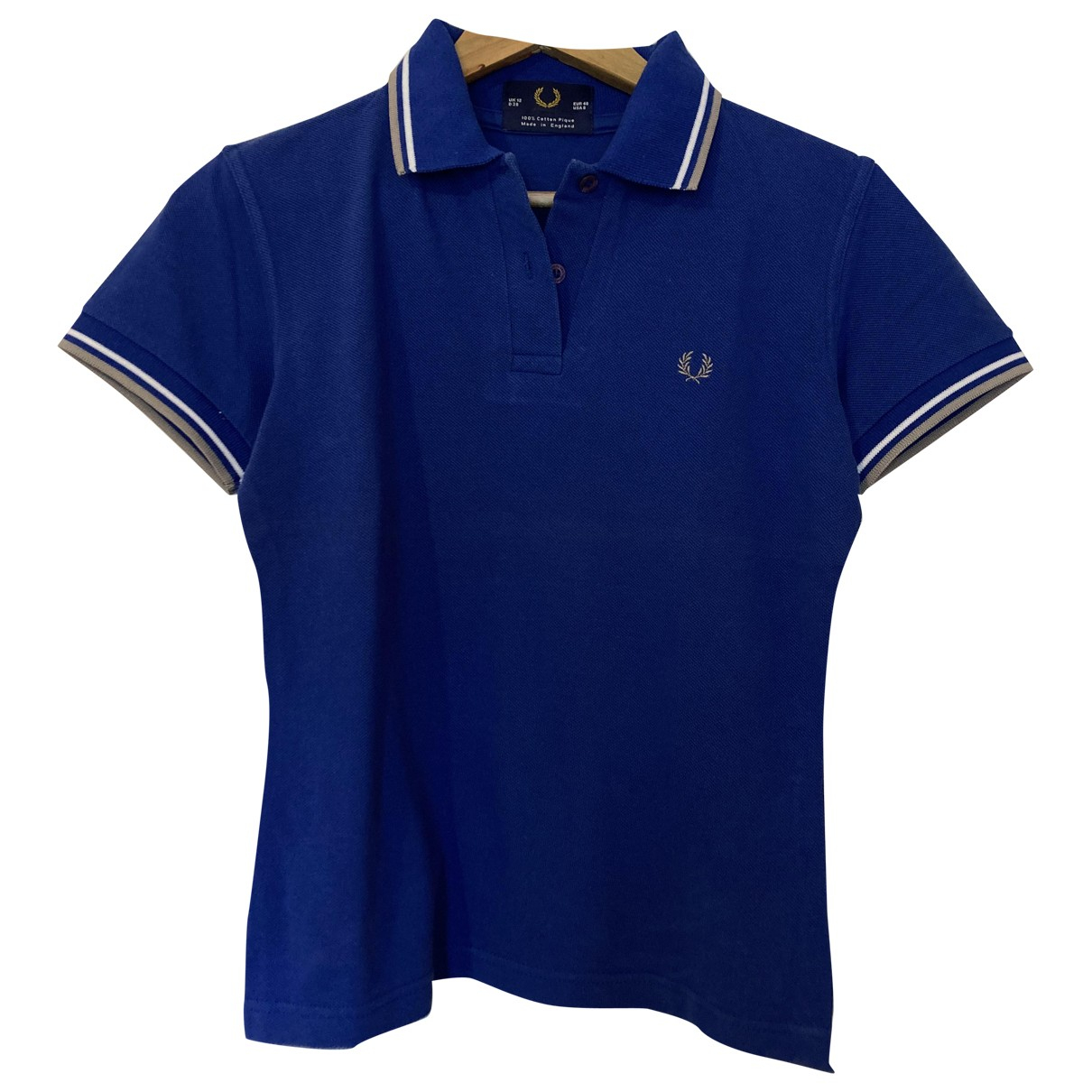 Fred Perry N Blue Cotton  top for Women S International