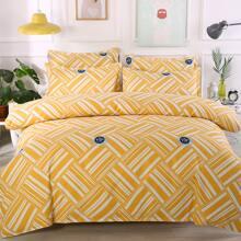 Bettwaesche Set mit geometrische Muster ohne Fuellstoff