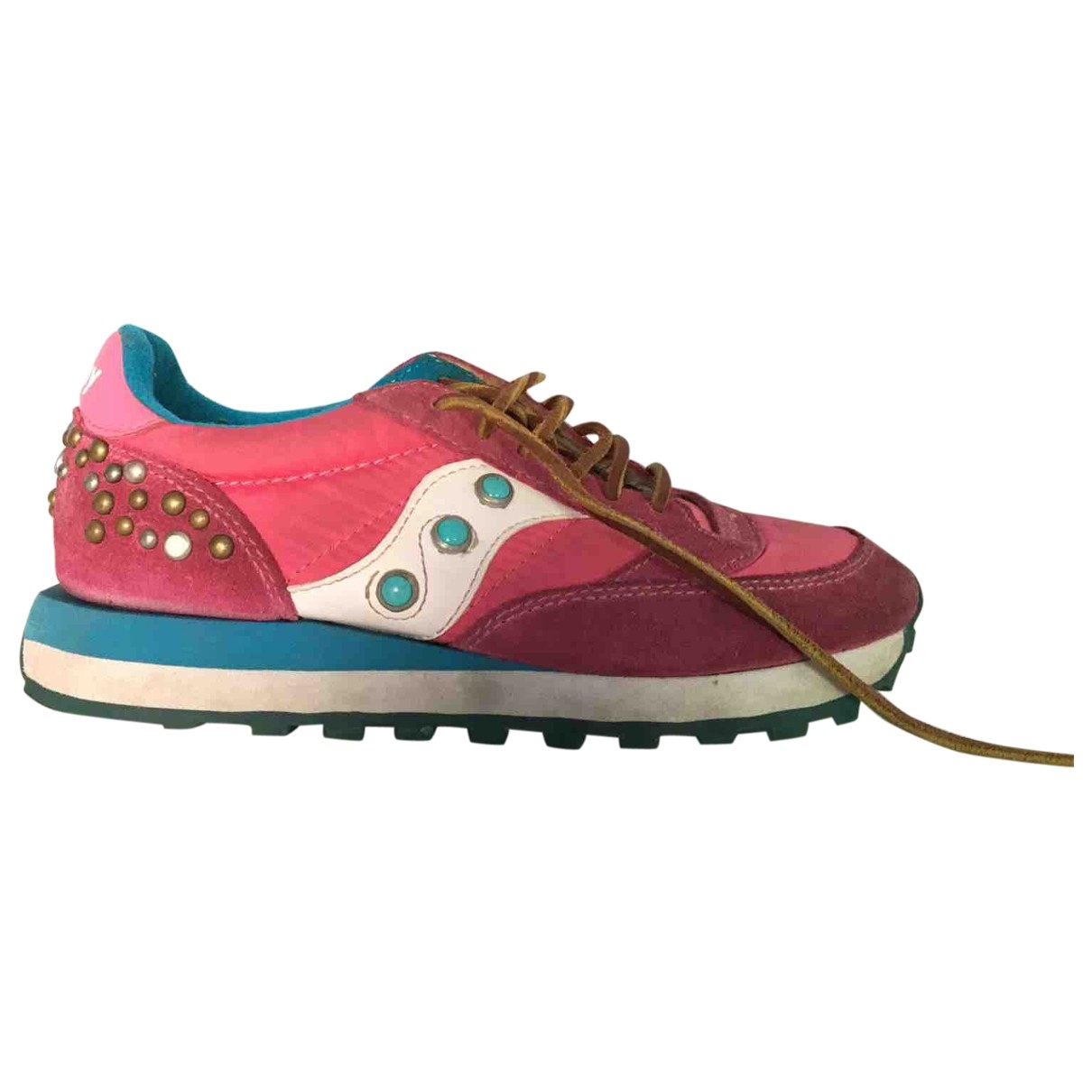Saucony \N Pink Leather Trainers for Women 5 UK