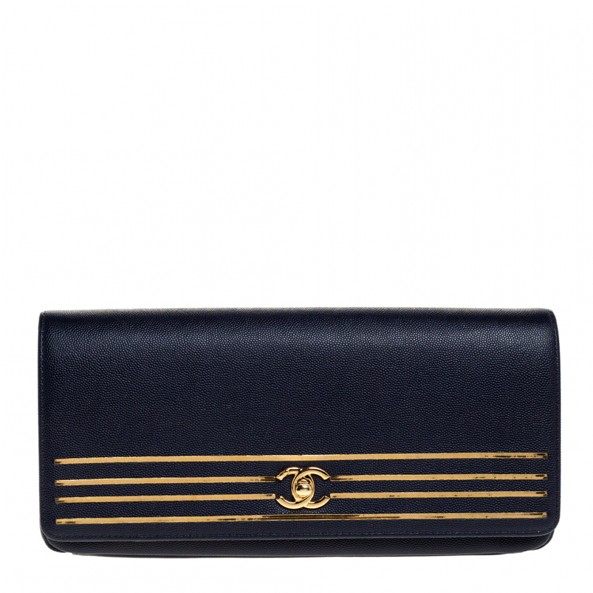 Chanel - Pochette   pour femme en cuir - marine