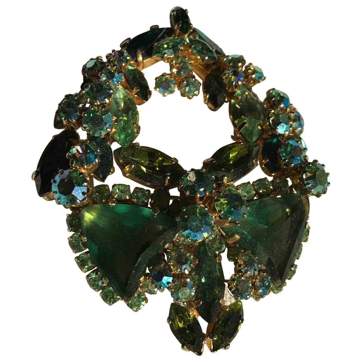 Non Signé / Unsigned \N Green Metal Pins & brooches for Women \N