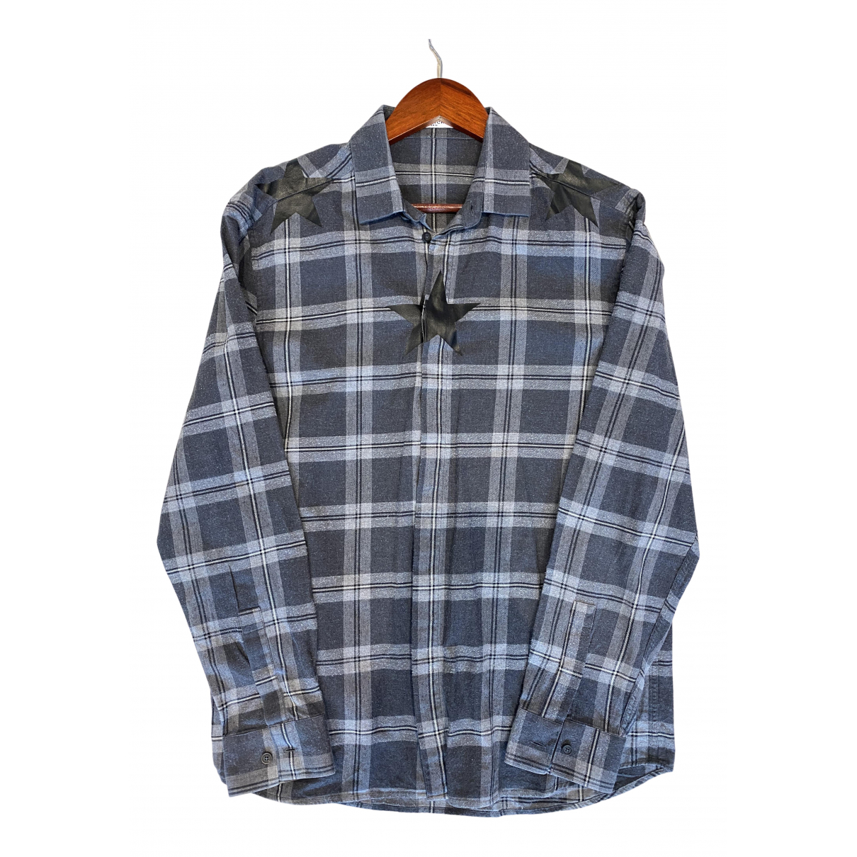 Givenchy N Grey Cotton Shirts for Men 41 EU (tour de cou / collar)