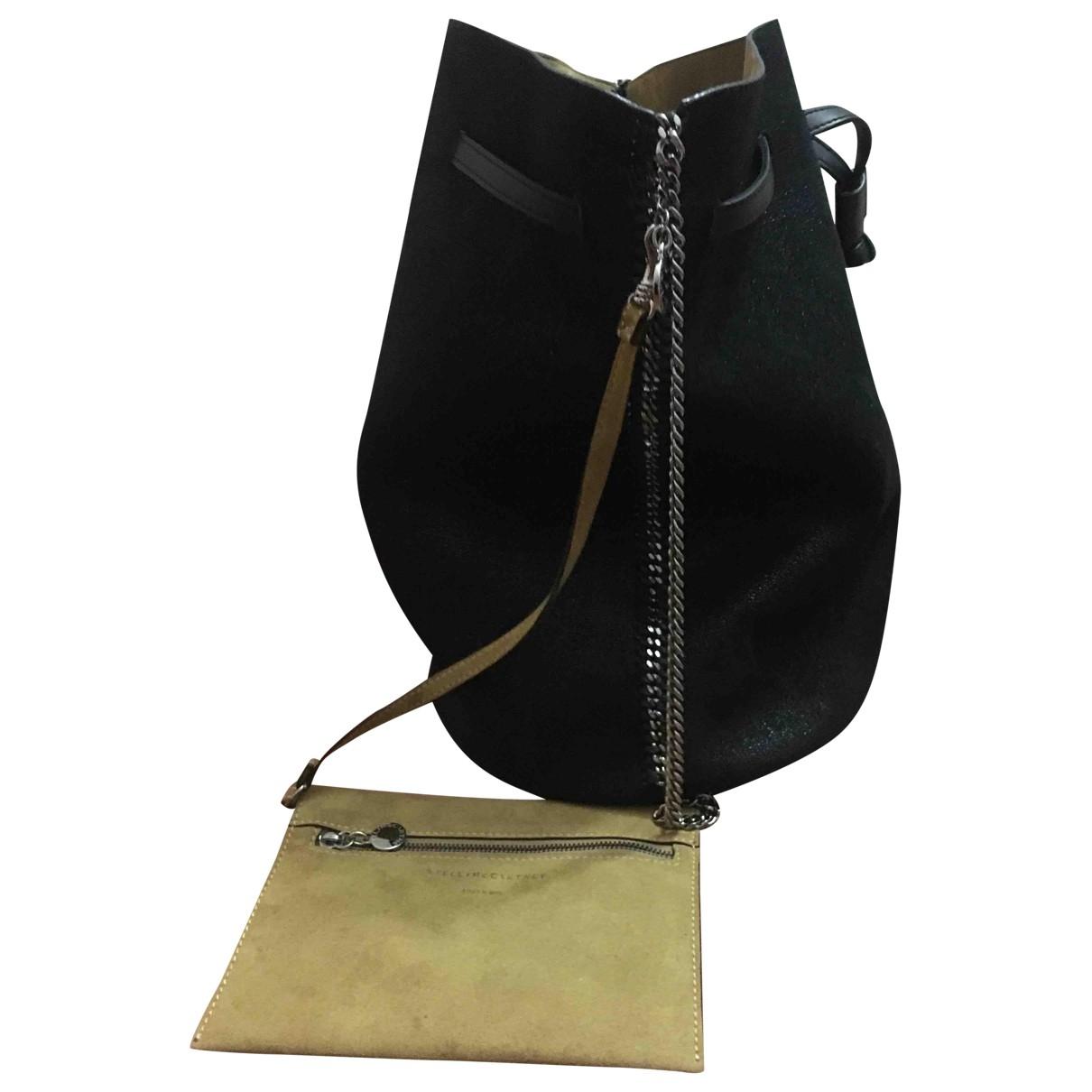 Stella Mccartney Falabella Handtasche in  Schwarz Leinen