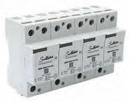 Sollatek DSP3P Series 400 V ac Maximum Voltage Rating 60kA Maximum Surge Current Lightning Protector, DIN Rail Mounting