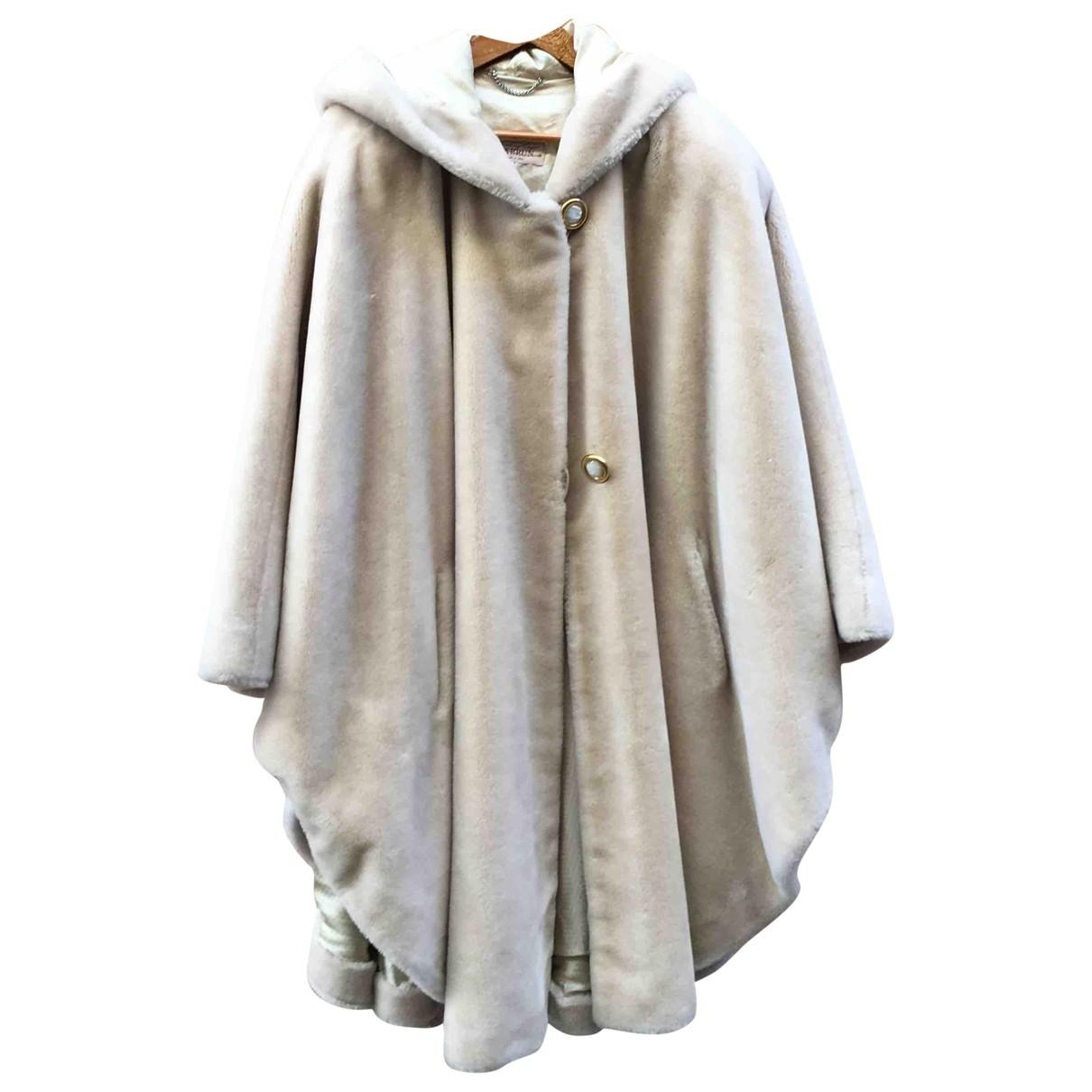 - Veste   pour femme en fourrure synthetique - blanc
