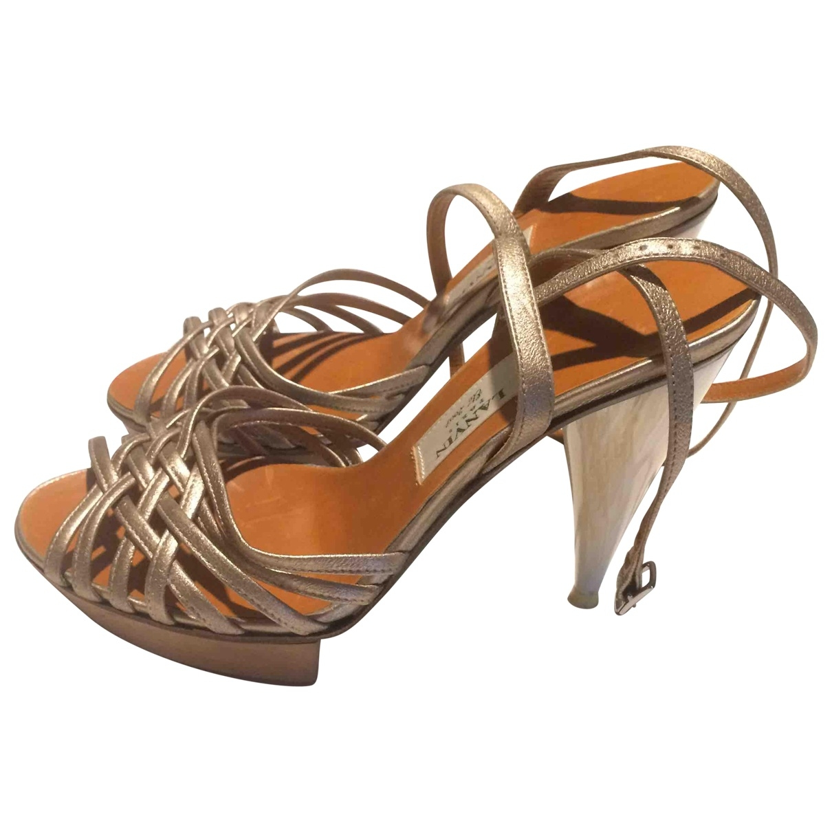Lanvin \N Gold Leather Sandals for Women 38 EU