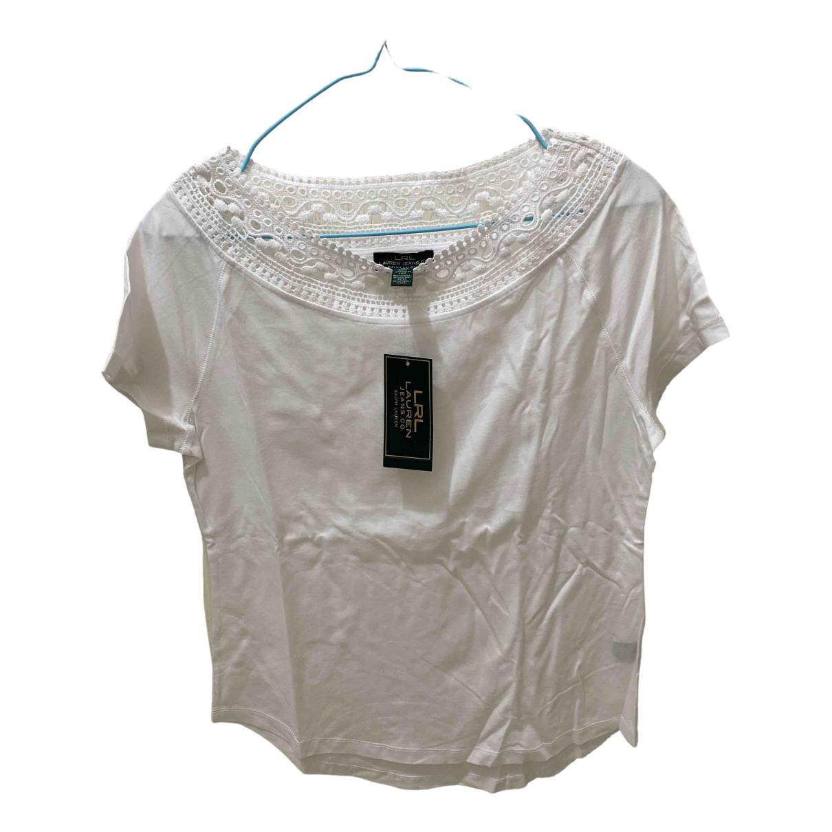 Lauren Ralph Lauren - Top   pour femme en coton - blanc
