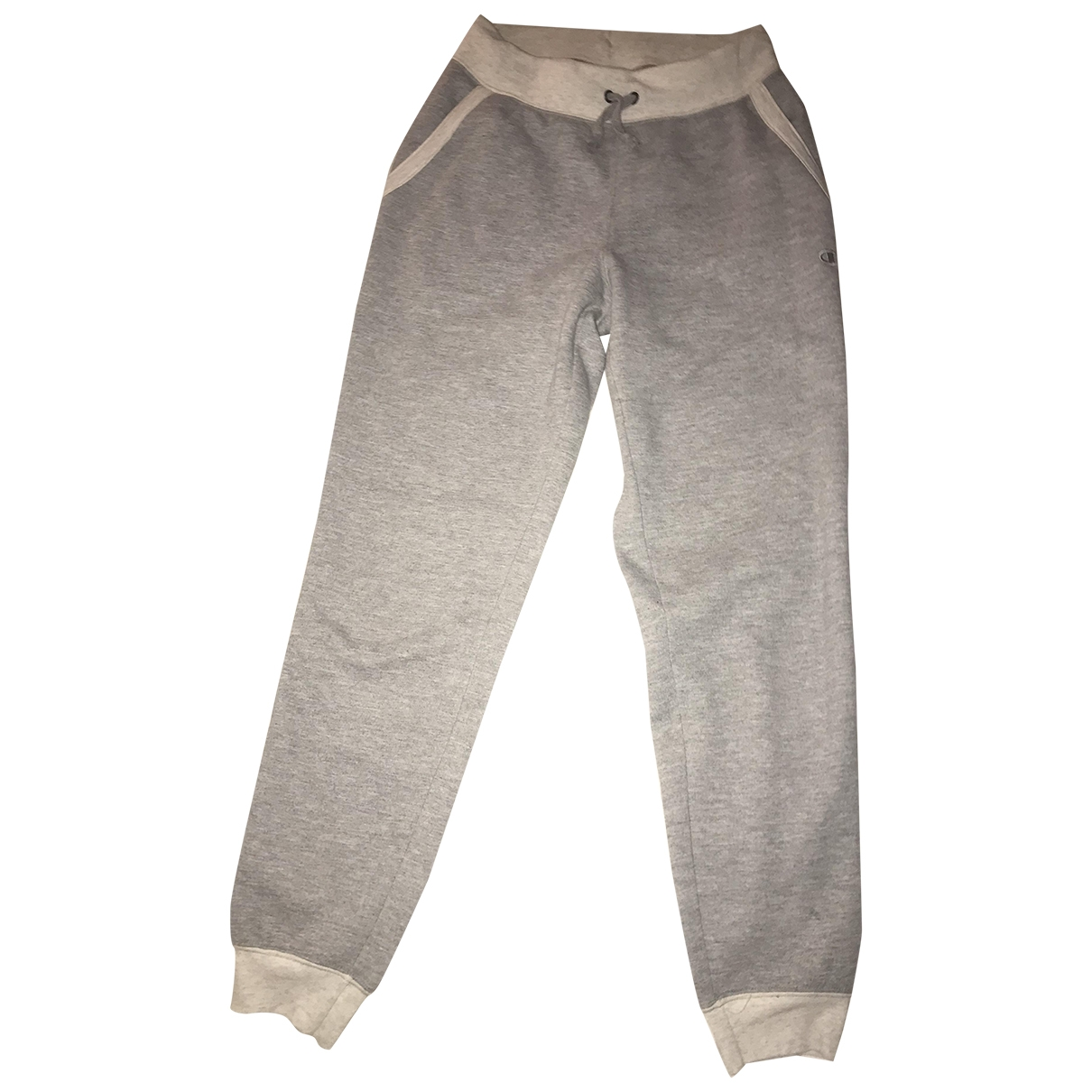 Champion \N Grey Cotton Trousers for Men S International