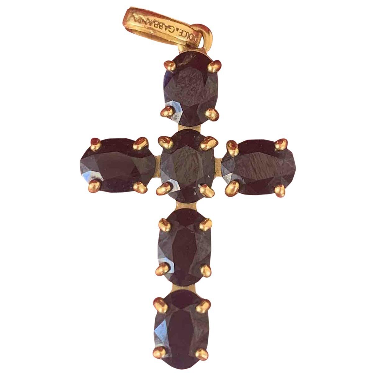 Dolce & Gabbana \N Anhaenger in  Schwarz Gelbgold