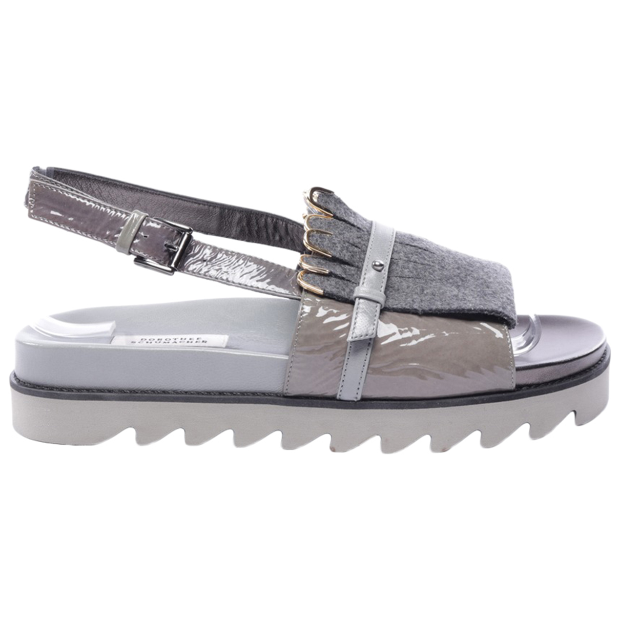 Dorothee Schumacher N Grey Leather Sandals for Women 37 EU