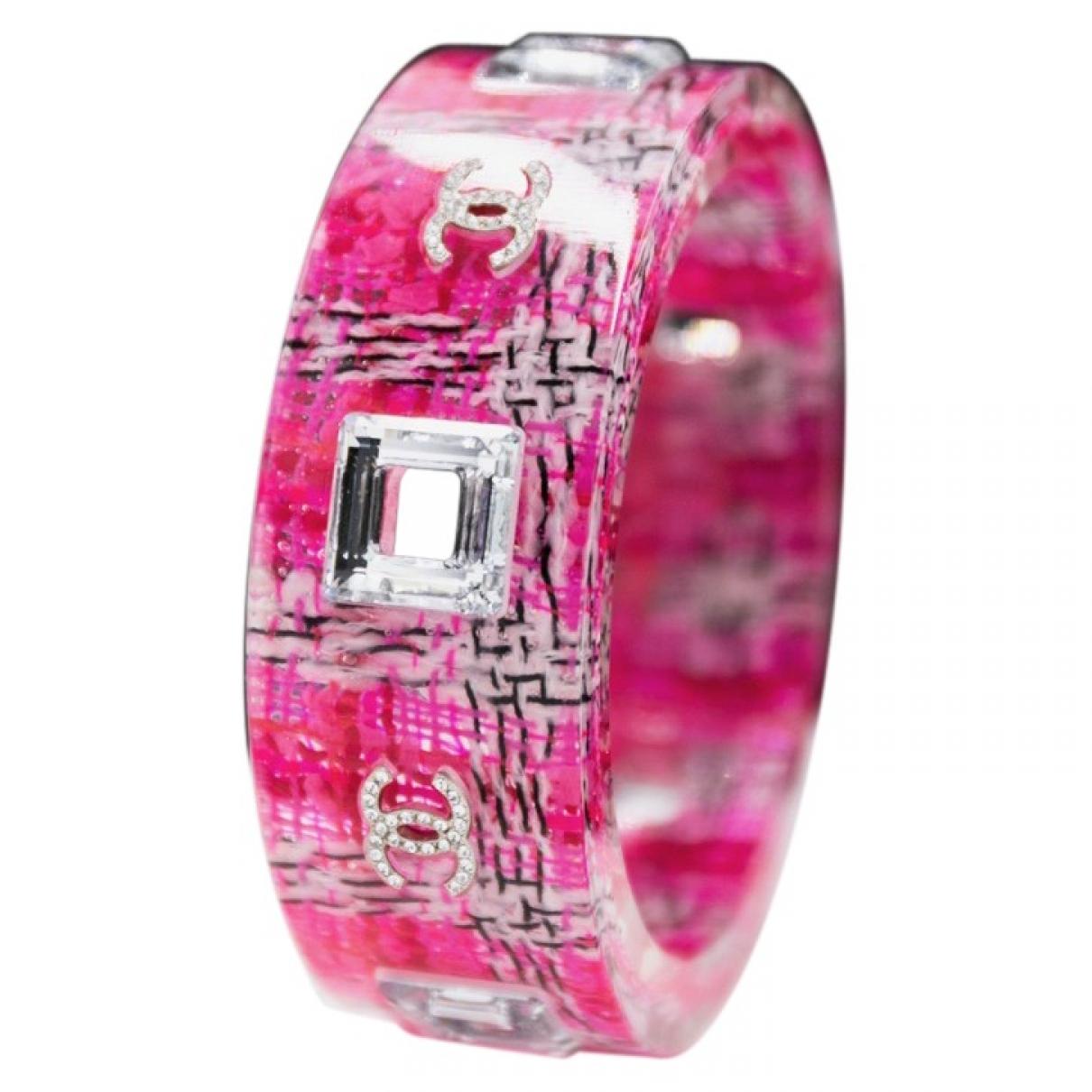 Chanel - Bracelet CC pour femme en autre - rose