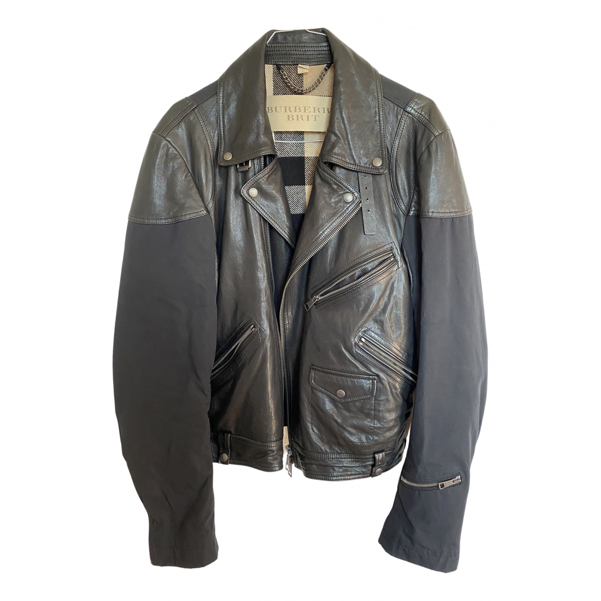 Burberry N Black Leather jacket  for Men 52 FR