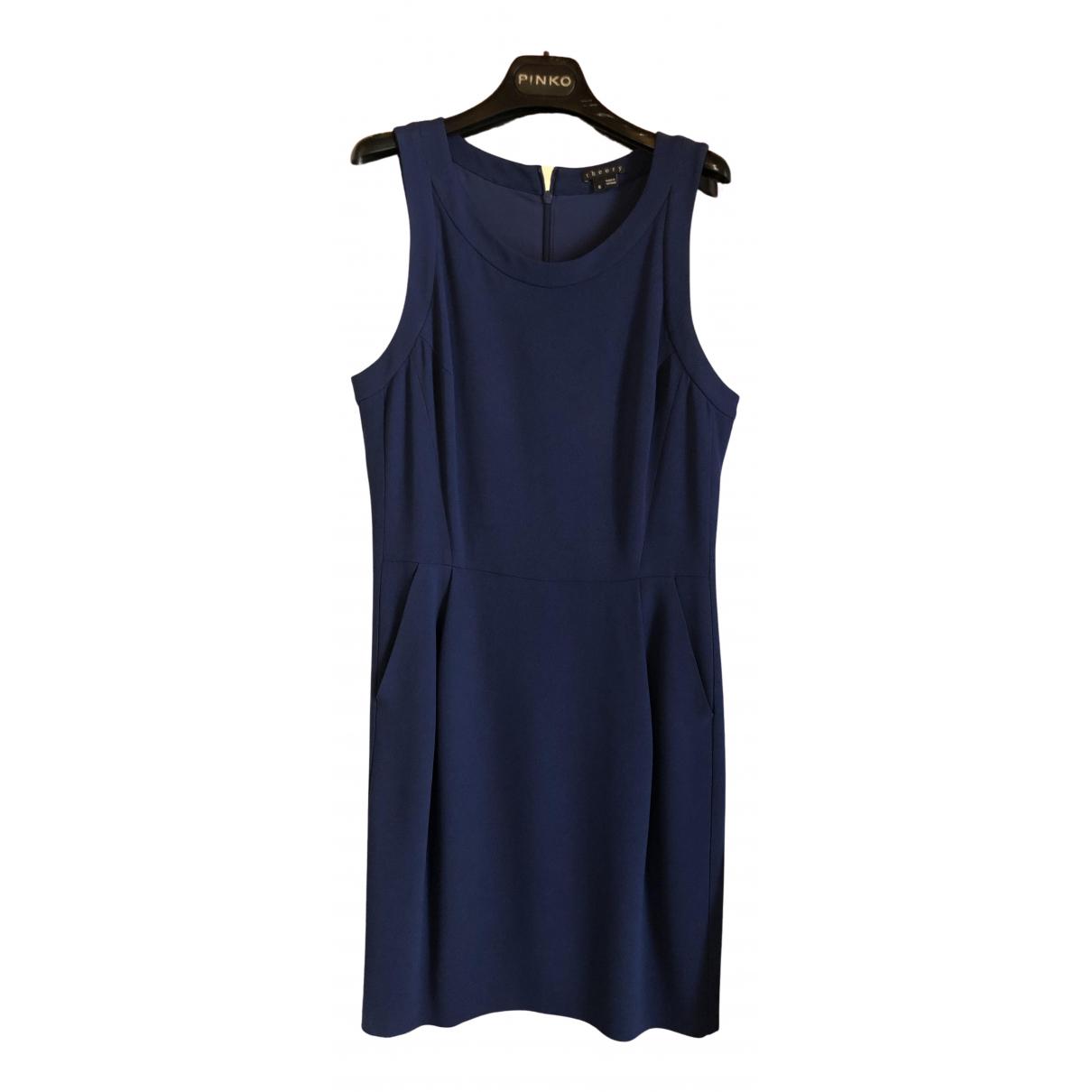 Theory \N Kleid in  Blau Baumwolle - Elasthan