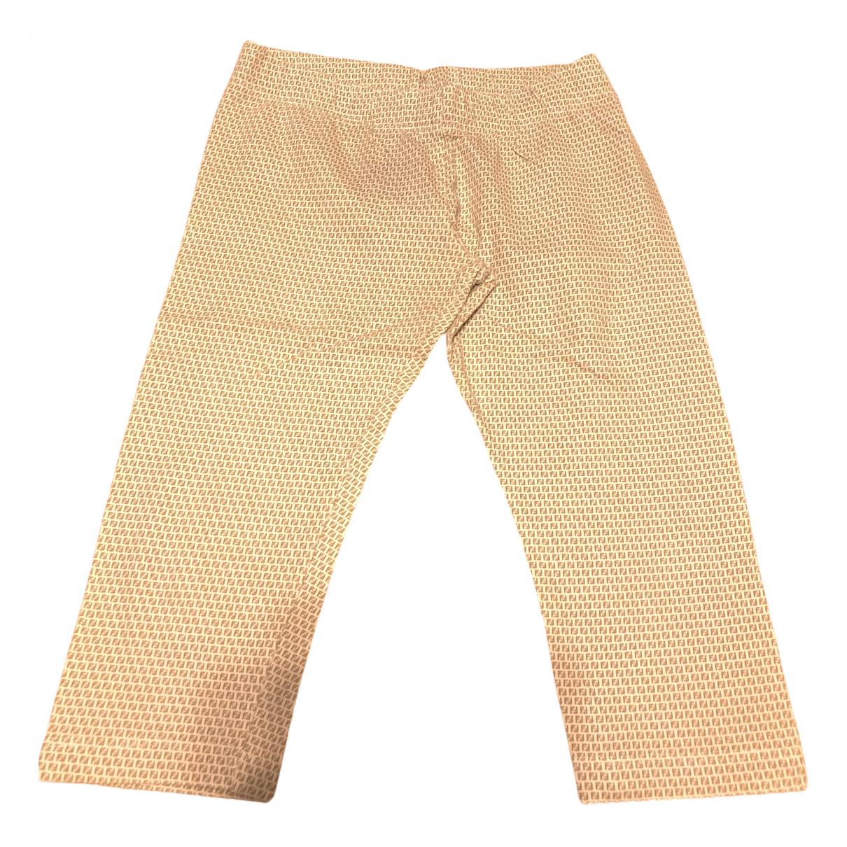 Fendi - Pantalon   pour enfant en coton - beige