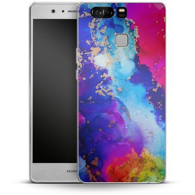 Huawei P9 Silikon Handyhuelle - Cosmic Swirl II von Stella Lightheart