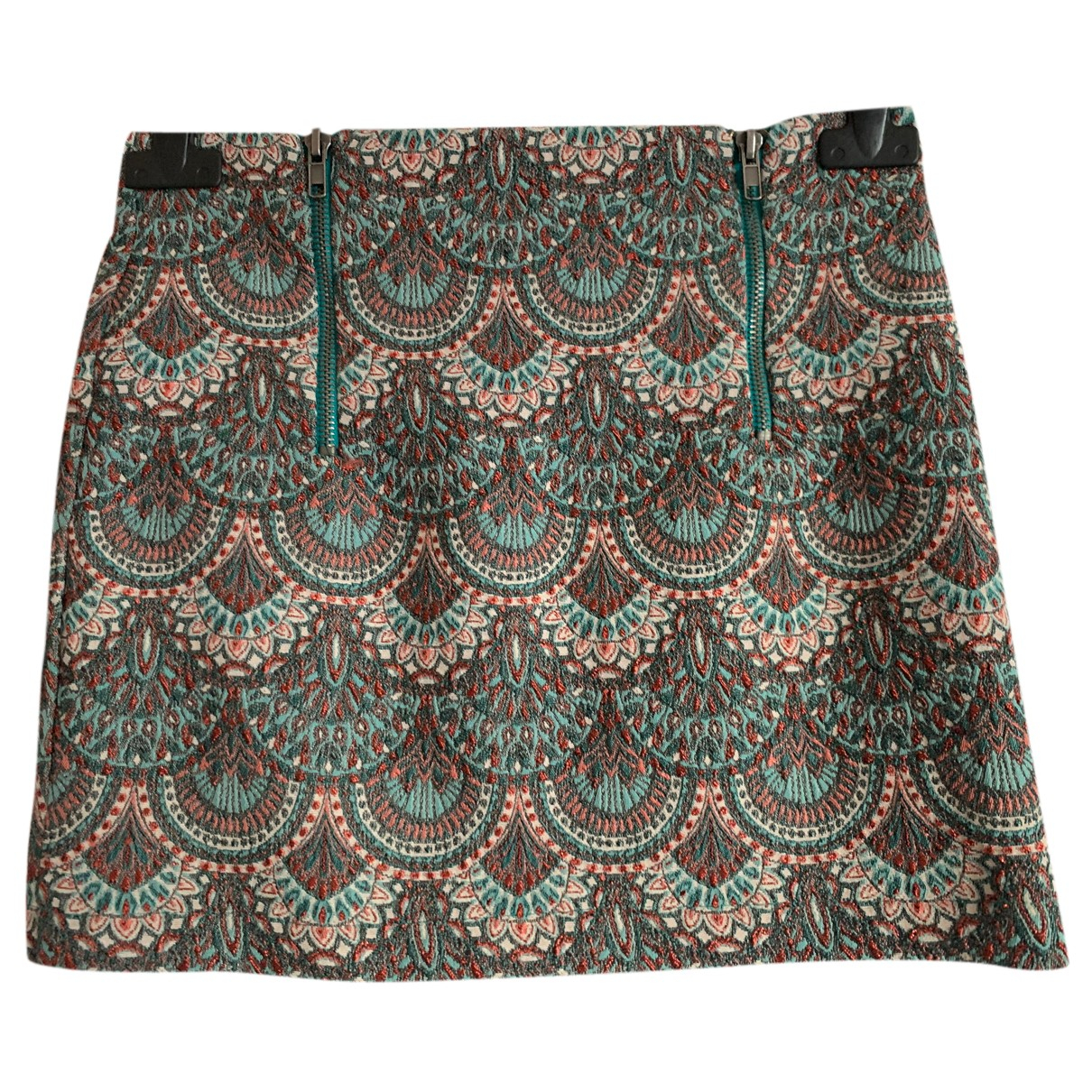 Zara N Turquoise Cotton - elasthane skirt for Women XS International