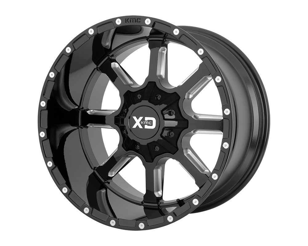 XD Series XD83821286344N XD838 Mammoth Wheel 20x12 5x5x139.7/5x150 -44mm Gloss Black Milled