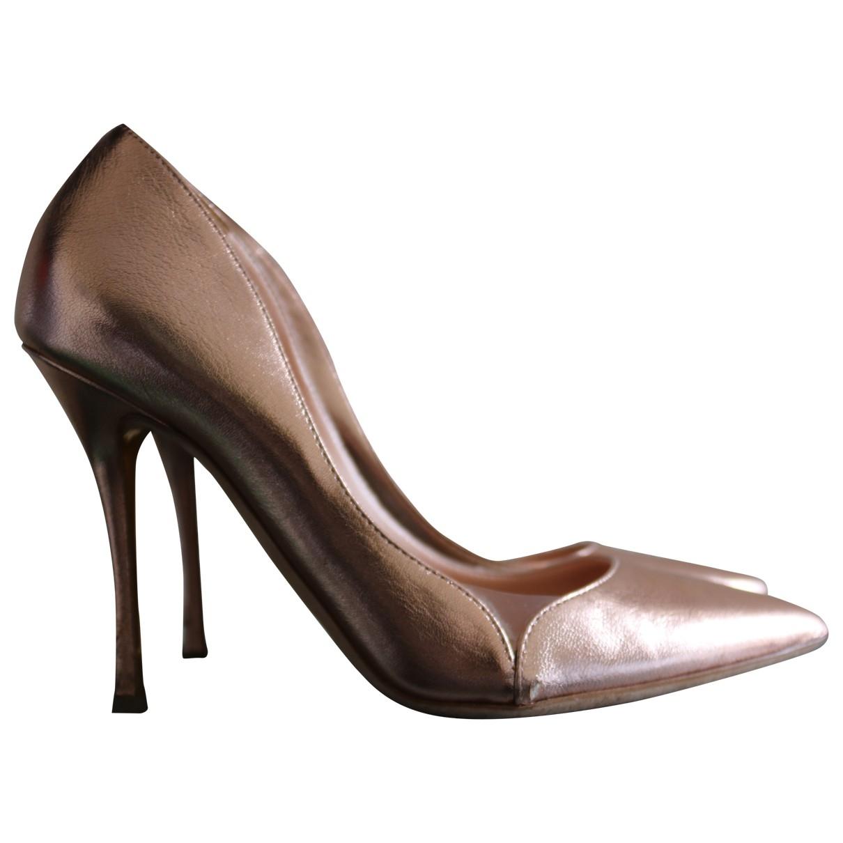 Rupert Sanderson \N Metallic Leather Heels for Women 37.5 EU