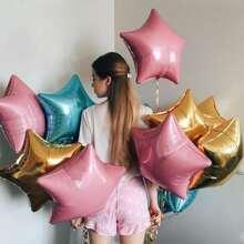 Stern formiger Ballon 5pcs
