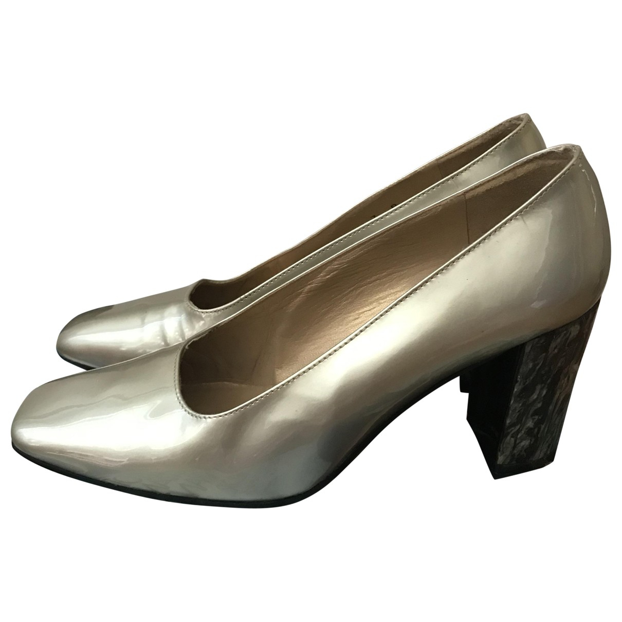 Stuart Weitzman \N Metallic Leather Heels for Women 7 US