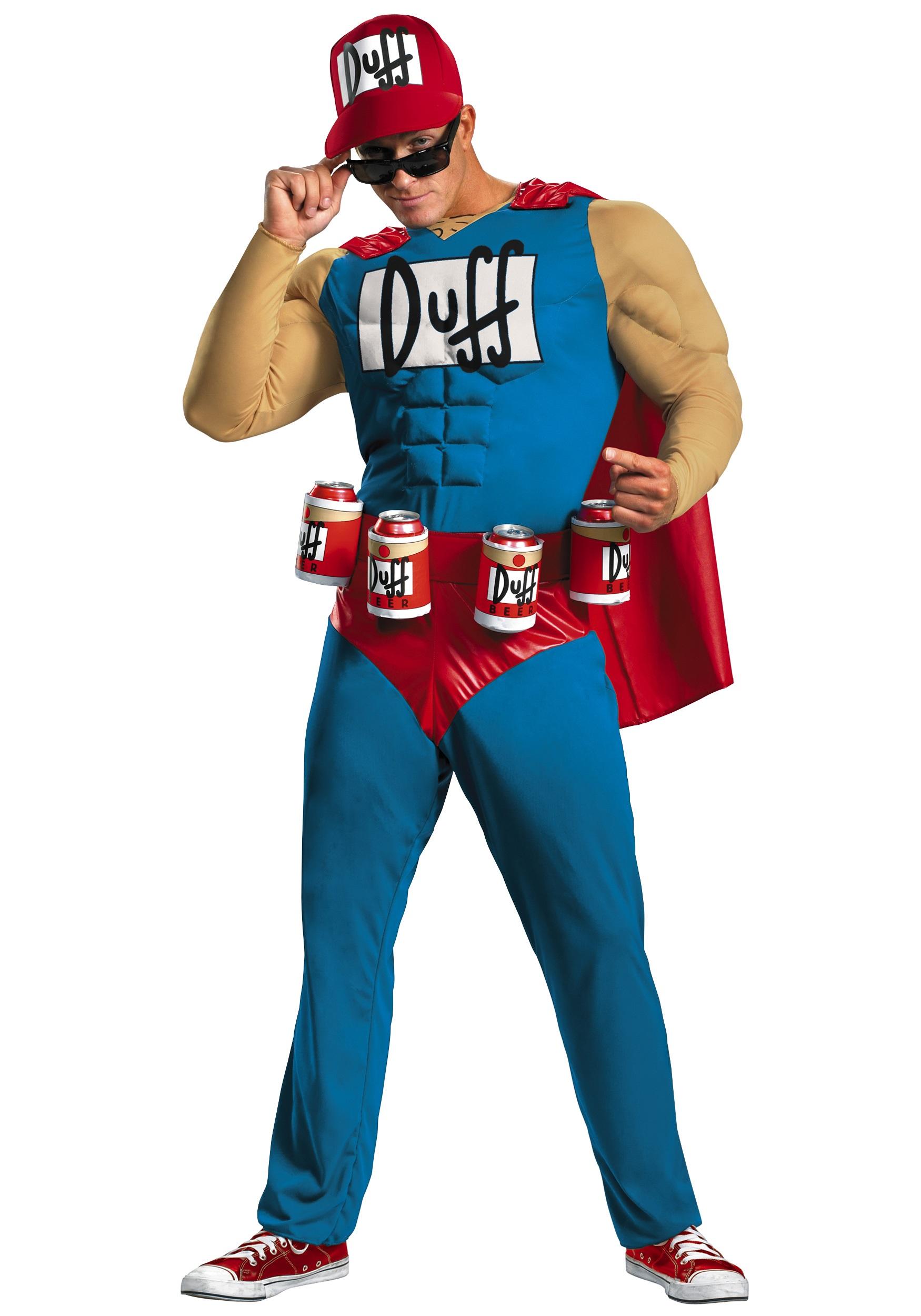 Men's Duffman Costume 1X/2X | Homer Simpson Beer| Jumpsuit