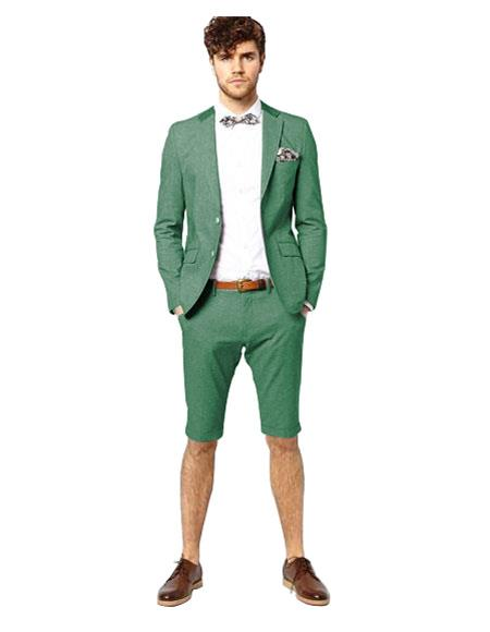 Suit Single Breasted Light Green Two Button