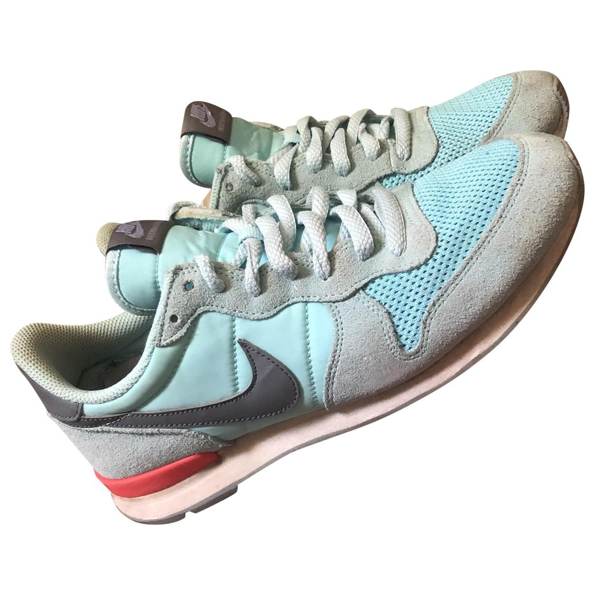 Nike Internationalist Turquoise Cloth Trainers for Women 40.5 EU