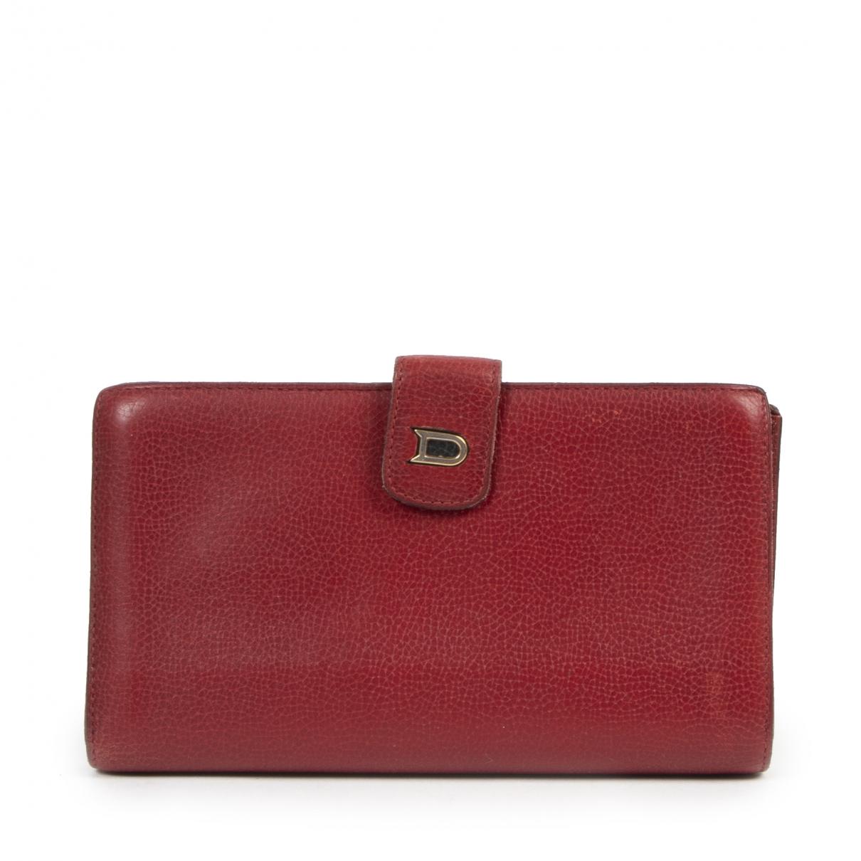 Delvaux - Petite maroquinerie   pour femme en cuir - rouge